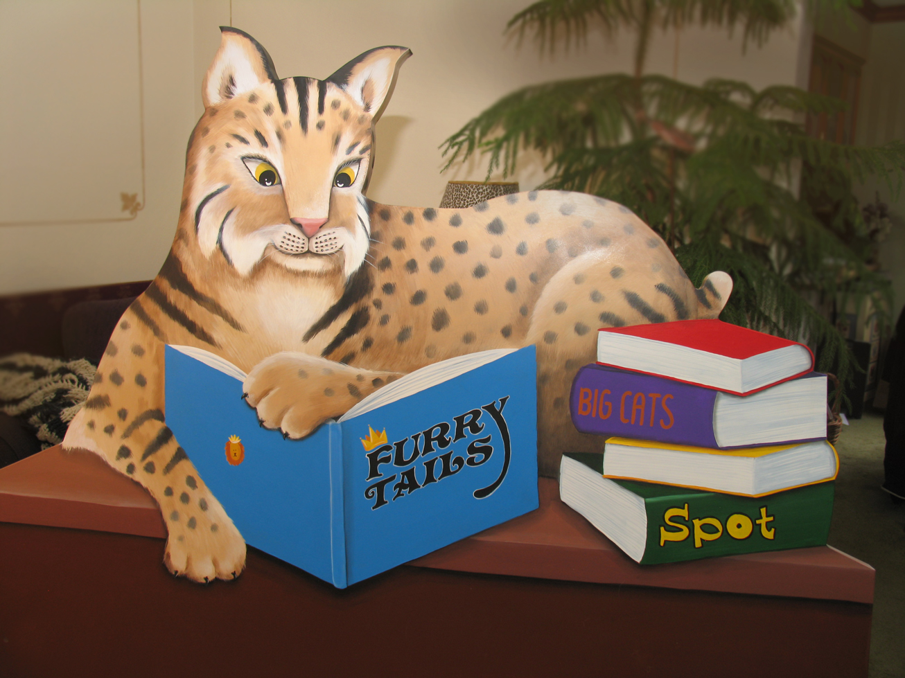 BC School Bobcat Bookbin