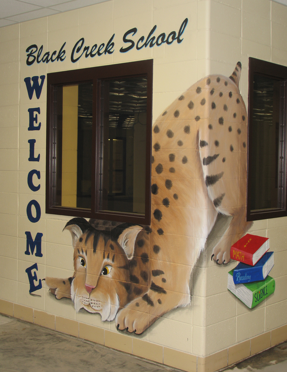 Black Creek School Bobcat Mural