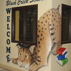 Black-Creek-School-Bobcat-Mural